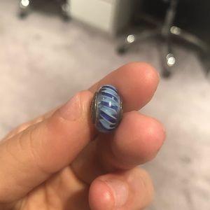 Pandora Blue Swirl Glass Bead Charm